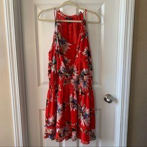 Miss Me red floral mini dress